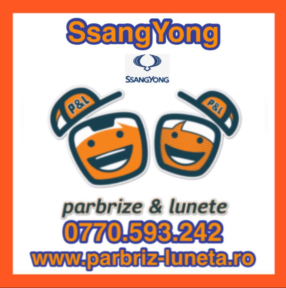 parbrize, lunete, geamuri ssang yong